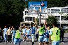 校园运动场篮板广告